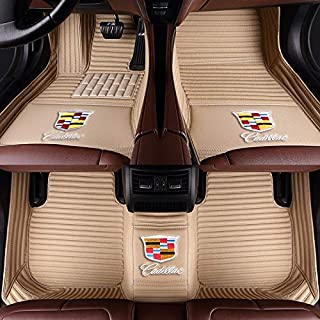 ELEQIN Fashion Hawaii Beach Surfing Trunk Printed 2 Piece Front Car Floor Mats Heavy Duty Waterproof Rubber Foot Area Rugs