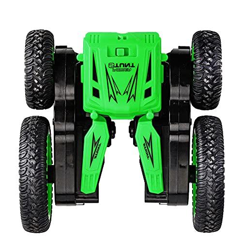 DONGKUI Coche RC De Doble Cara 4WD 360 ° Vehículo De Control Remoto Giratorio Resistente A Roturas Stunt Buggy 2.4Ghz Coches De Juguete Eléctricos para Niños Sorpresa De Navidad para N