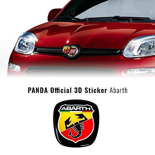 ABARTH 32026 3D-Aufkleber, Ersatzteil mit Logo vorne und hinten, für Panda nach 2012