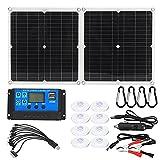 HSART Foldable 50W Solar Panel, 5V USB / 18V DC Waterproof Folding Portable Solar Panels Cells, for Smartphone Battery Charger