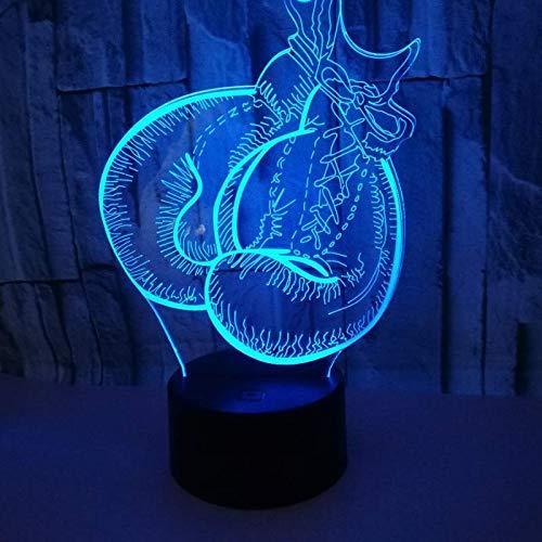 3D Optisch Illusions-Lampen LED Lampe Boxhandschuhe Nacht USB-Stromversorgung 7 Farben Blinken ändern Touch zum Kinder Geschenk für Tischdekoration und Nacht Dekoration fürs Wohnzimmer Nachtlicht