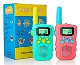 Walkie Talkies para niños, 22 Canales, Radio Bidireccional, 3KM de Largo Alcance, VOX, Conversación con Linterna, Walkie-Talkies Interfono de Mano para Niños de 3~12 Años, Acampar, Senderismo (2Pcs)