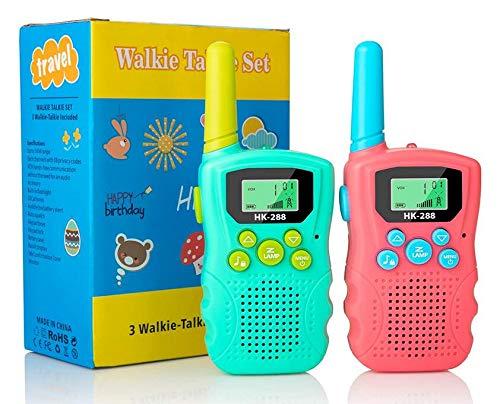 Walkie Talkies for Kids, 22 Channels 2 Way Radio 3km Long Range VOX Talking with Flashlight, Kids Walkie-talkies Handheld Interphone for Age 3-12 Year Old Boys Girls Outdoor Camping Hiking (2 Pack)