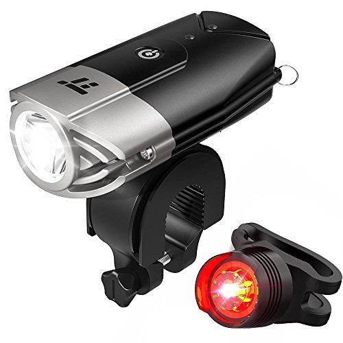 自転車ライト テールライト付 TaoTronics USB充電式 ヘッドライト 700ルーメン LED IP65防水 50mを照らす明...