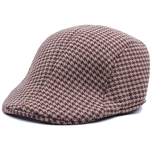 Check Out This Hat Men's Autumn and Winter Tartan Beret Retro Cap Warmth Onward Cap (Color : 01, Siz...