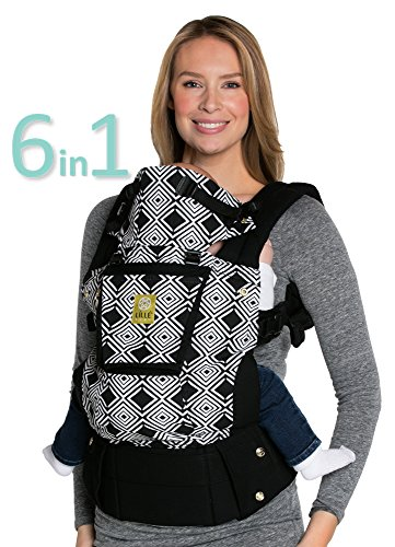 LÍLLÉbaby Complete Original 6-in-1 Ergonomic Baby & Child Carrier, Black/Spot On - 100% Cotton