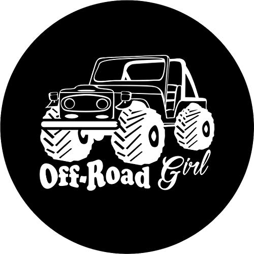 TIRE COVER CENTRAL Off Road Girl Spare TIre Cover (Select tire Size/Back up Camera Option in MENU) Custom Sized to Any Make/Model for 255/75r17