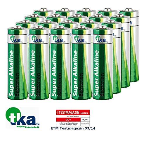 tka Köbele Akkutechnik Battery: Super-Alkaline-Batterien Mignon 1,5V Typ AA, 20 Stück (Sparpacks Alkaline-Batterien)