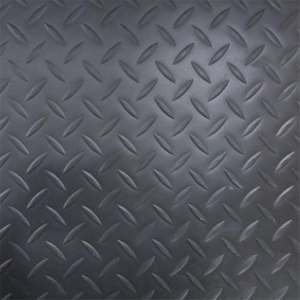 野心収束する聴覚縞鋼板風防滑保護シート 滑り止めシート マット 防滑材 INK-1316001 (ブラック)