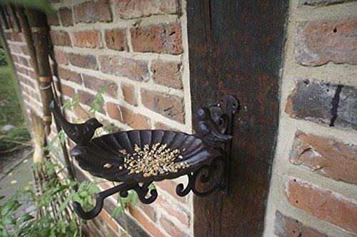 Antikas - Futterschale Wand, Vogeltränke - Futterplatz für Vögel Terrasse + auf Balkon