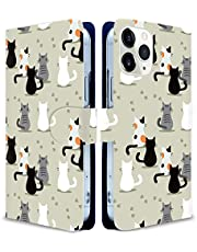 iitrust Galaxy A32 5G ケース 手帳型 ギャラクシーA32 5g ケース手帳型 SCG08手帳型ケース Galaxy a32ケース花柄 スマホケース 猫の群れの背 アニメ かわいい アニマル