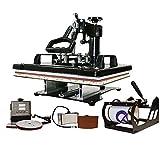 Wowsubli 5 in1 Combo Heat Press Machine 12 x 15 Digital Multi Transfer Sublimation Print