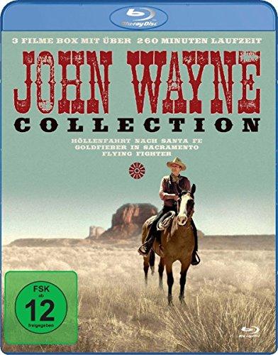 John Wayne Collection - 3 Filme mit über 260 Minuten Laufzeit (Höllenfahrt nach Santa Fe, Goldfieber in Sacramento, Flying Fighter) [Blu-ray]