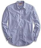 Amazon Brand - Goodthreads Men's Standard-Fit Long-Sleeve Banker Striped Shirt, Blue, Medium