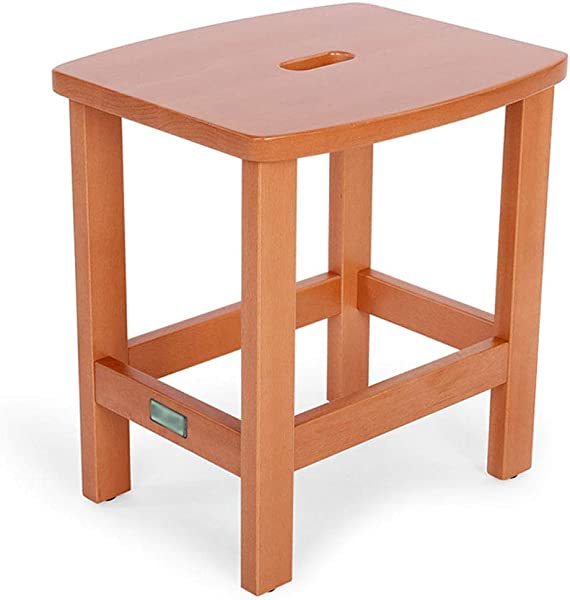 Carl Artbay Stool European Ergonomic Wooden Bench For Living Room Bedroom Desk Dining Table 36 30 39 Cm