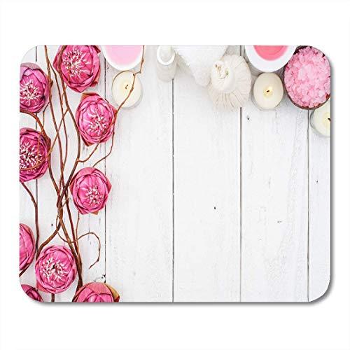 Mauspad rose pink lotus spa blume zen meditation schönheit salz mousepad für notebooks, Desktop-computer mausmatten, Büromaterial