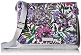 Vera Bradley Women's Microfiber Turnabout Crossbody Purse, Lavender Meadow