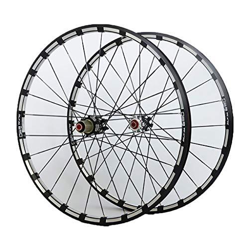LBBL Ruedas Bicicleta, Wheels Freno Disco 9 10 11 Velocidad 29 Pulgadas Rueda Aro Aluminio Liberación Rápida Ligera Y Resistente A La Torsión (Color : B, Size : 27.5inch)