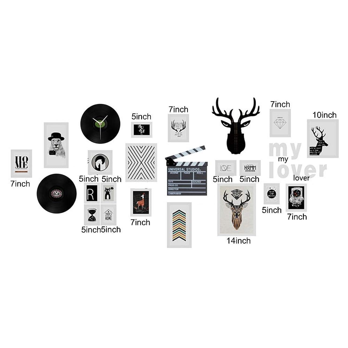 米国あなたのものシャーロットブロンテLKJASDHL 木製のフォトフレーム記録時計装飾用リビングルームホームファニシング装飾結婚式の写真フレーム (サイズ : 19pieces)
