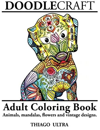 DoodleCraft Adult Coloring Book