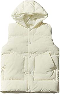 Macondoo Mens Thick Puffer Vest Hooded Quilted Winter Down Vest Coat
