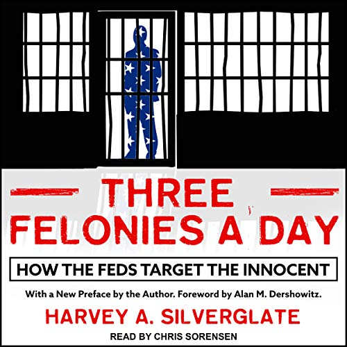 Three Felonies A Day audiobook cover art