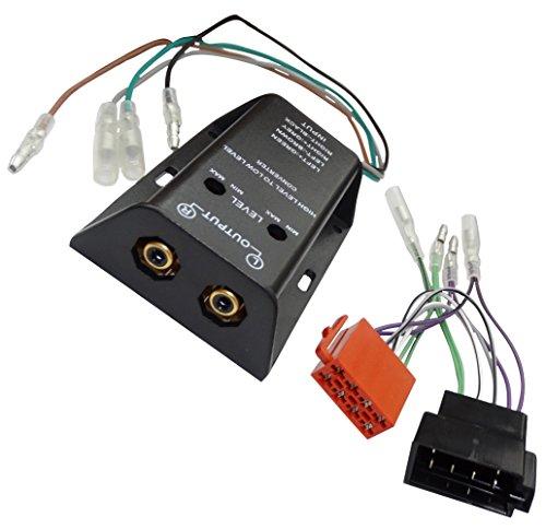 Aerzetix adapter kabelboom ISO RCA voor versterker autoradio C16578