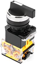 Momentary Rotary Selector LA38-20BX33 Mini 3 Position Self-resetting Rotary Switch 22mm Mounting Hole Dia Momentary Switch with Long Handle