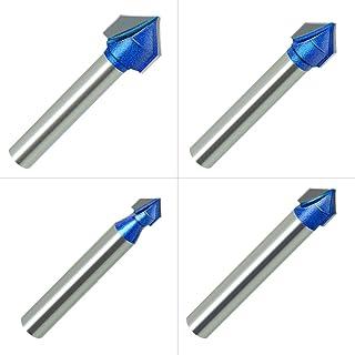 1//4-Inch Shank Round Nose 1//2 3//4 Inch 3//8 Cutting Diameter: 1//4 MEIGG Tool 5Pcs Straight Dado Router Bit Set 5//8