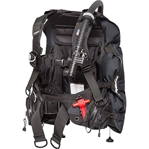 Zeagle Stiletto BCD with The Ripcord Weight System, Black, Large
