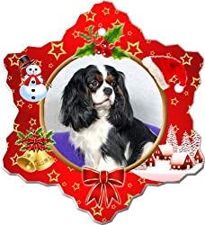 Cavalier King Charles Spaniel Porcelain Holiday Ornament[Canine Designs/Amazon]