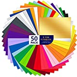 50 Permanent Adhesive Backed Vinyl Sheets Set,50 Vinyl Sheets12 x 8inchs,22 Assorted Color Sheets, for Home Decor, <span class='highlight'>Logo</span>, Letters, Banners, Window Graphics,Car Decal