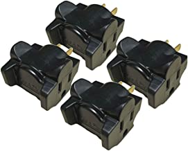 product image for Hug-A-Plug Dual Outlet Wall Adapter, 4 Pack Black DG1.B.4.48-BK