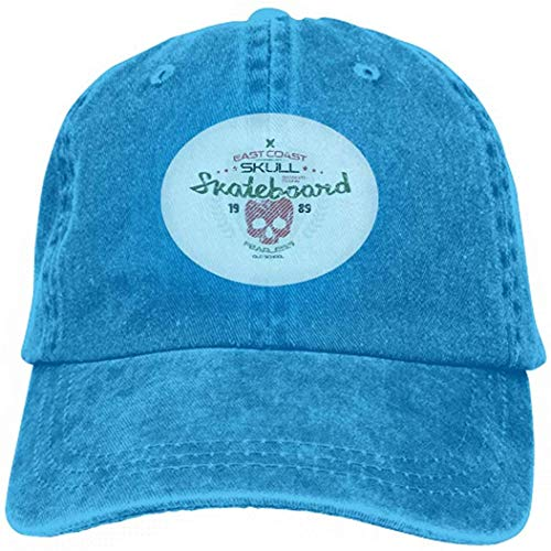 angwenkuanku Vintage Cap Hat Adjustable Baseball Hat for Unisex Natural Skateboard Skull Emblem Shabby Texture Graphic Design Color Print White Background gorgeous30848