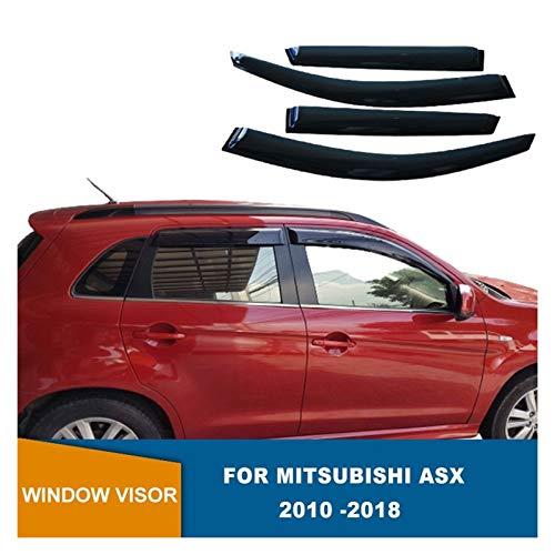 ZLLD Windabweiser Für Mitsubishi ASX 2010-2018 Seitenfenster Deflektoren Fenster Visier WeatherShields Sun Rain Deflector Guards Hintere Windabweiser