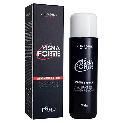 FGM04 Visna Forte, Gel Gel per Addome e Fianchi, Uomo, 200 ml