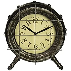 IMAX 47606 Ella Elaine Metal Table Clock, Gray