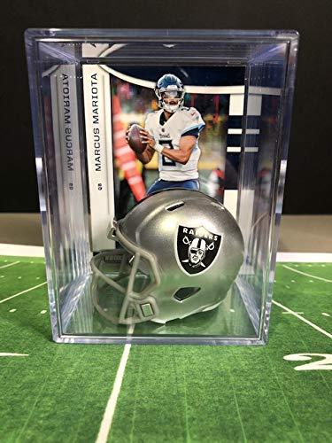 Las Vegas Raiders NFL Helmet Shadowbox w/Marcus Mariota card