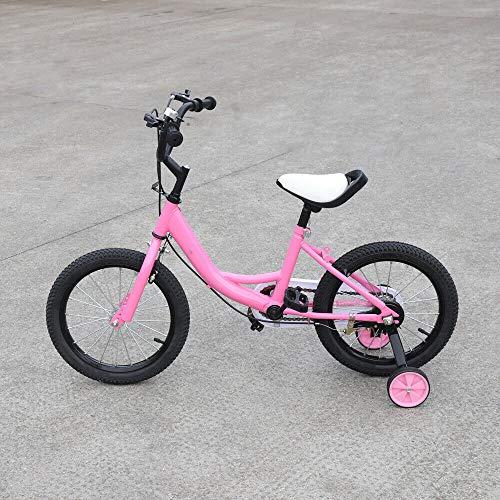 OUKANING 16 Zoll Kinderfahrrad Kinder und Mädchenfahrrad Children's Bike 5-8 Jahre Rosa