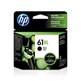 HP 61XL | Ink Cartridge | Works with HP Deskjet 1000 1500 2050 2500 3000 3500 Series, HP ENVY 4500 5500 Series, HP Officejet 2600 4600 Series |Black | CH563WN