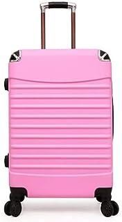 Trolley Case Bagage de Chariot de Mode Valise portab 36 * 24 * 58cm, 4 roues, bagage à Main de coquil dure légère avec la serrure de mot de passe (24 inches,Purp) Travel Luggage Carry-Ons