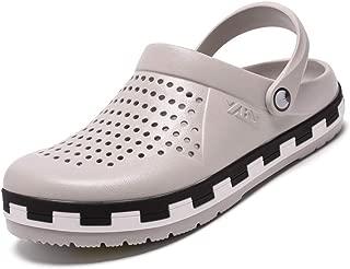 Hombres Sandalias Zapatillas de Goma Hueco Zuecos huecozapatos Verano Transpirable antislida Agua Calzado para al Aire Libre Relajante baño de Sol Piscina