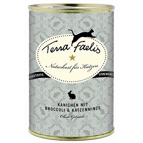 Terra Faelis | Kaninchen mit Broccoli und Katzenminze | 12 x 400 g