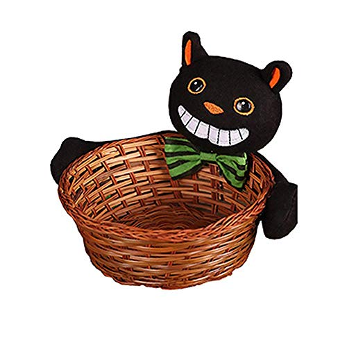 Halloween Dekoration Halloween Bambus Korb Süßigkeiten Korb Großhandel Party Supplies Home Office Schreibtisch Ablagekorb Ghost Kürbis Schildkröte Keks Obstkorb Bar Party Deko Aufbewahrungskörbe