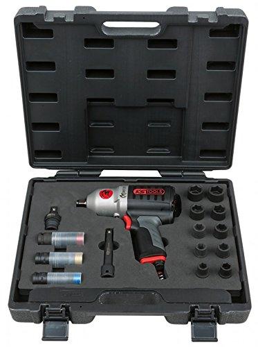 KS Tools 515.5150 1/2'' Druckluft-Schlagschrauber-Satz, 17-tlg, 1690 Nm