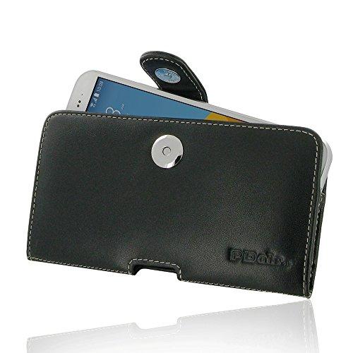 PDAir HTC 10 EVO Leder Tasche Hülle, Echtleder Handyhülle Tasche mit Gürtelclip Leder Handy Etui, Handarbeit Prämie Horizontal Tasche Für HTC 10 EVO