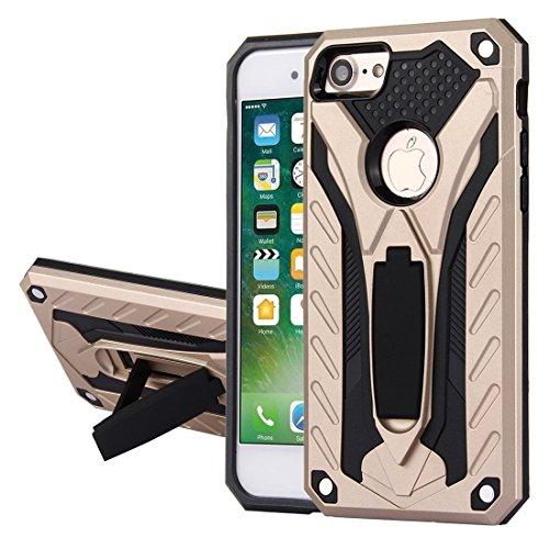 Tough Armor TPU + PC Combo Cassette Holder para iPhone 8 y 7 Cubierta antideslizante (Color: Dorado)