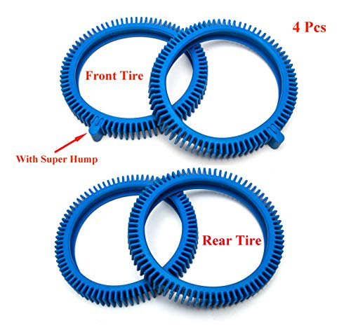 ATIE PoolSupplyTown Front Tire and Rear Tire Combo Kit Replacement for The PoolCleaner Poolvergnuegen Front Tire Kit with Super Hump 896584000-143 and Rear Tire Kit 896584000-082 (2 Pack)