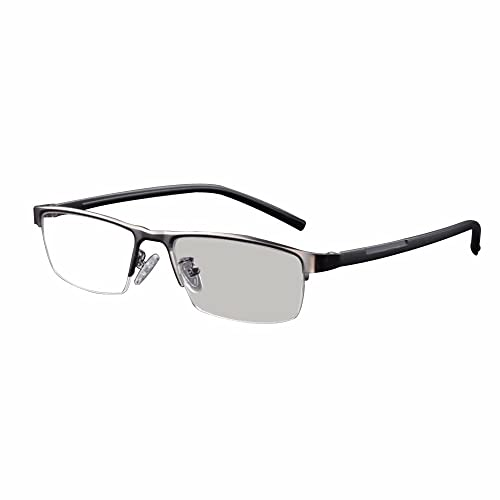 e7461d9cde3c Transition Photochromic Reading Glasses Pocket Reader Metal Frame with Case  Farsighted UV400 Sunglasses +1.0 to