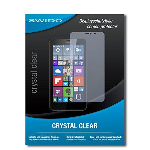 SWIDO Bildschirmschutz für Microsoft Lumia 640 XL Dual SIM [4 Stück] Kristall-Klar, Hoher Festigkeitgrad, Schutz vor Öl, Staub & Kratzer/Schutzfolie, Bildschirmschutzfolie, Panzerglas Folie